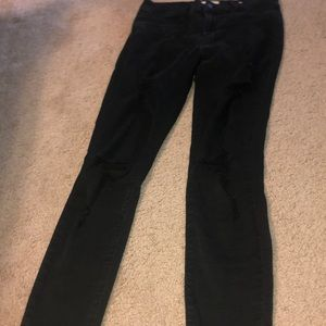 pacsun black ripped jeans